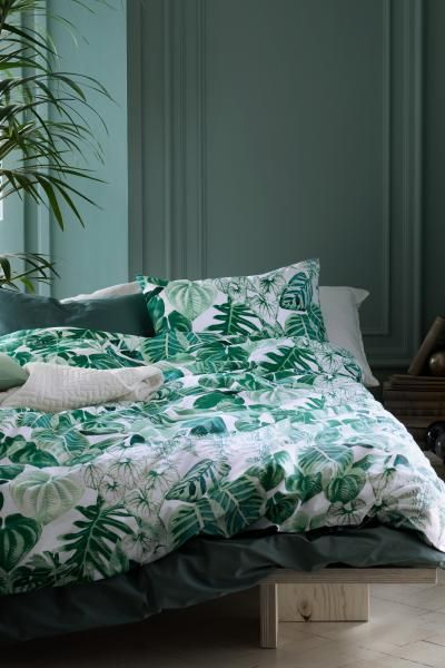 Copripiumino Zen.Set Copripiumino Con Foglie Green Bedroom Design Bedroom Green
