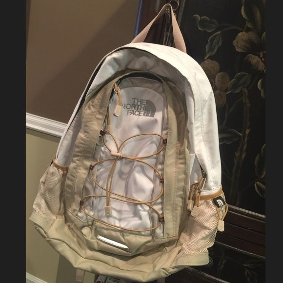 d6b27d77a North face jester backpack LIKE NEW White tan and grey jester ...