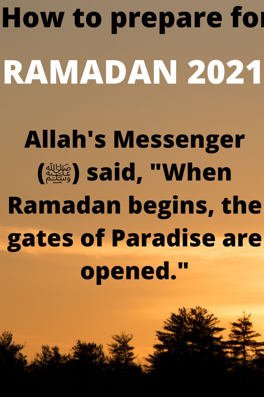 How To Prepare For Ramadan 2021 In 2021 Ramadan Preparing For Ramadan See And Say