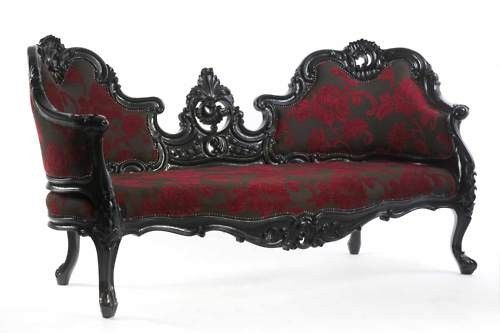 victorian goth gothic home couch sofa loveseat furniture