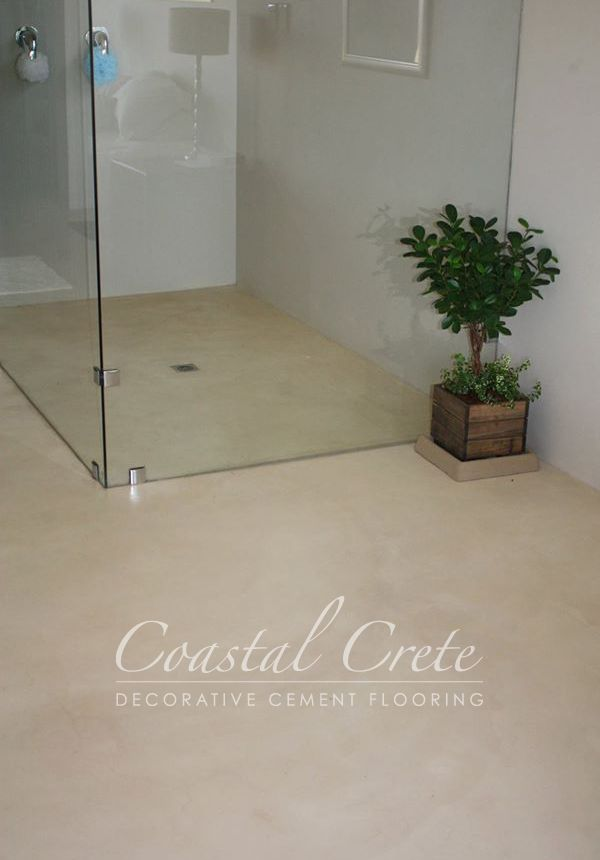 Coastal Crete Flooring Cream Colour Screed Flooring Smooth