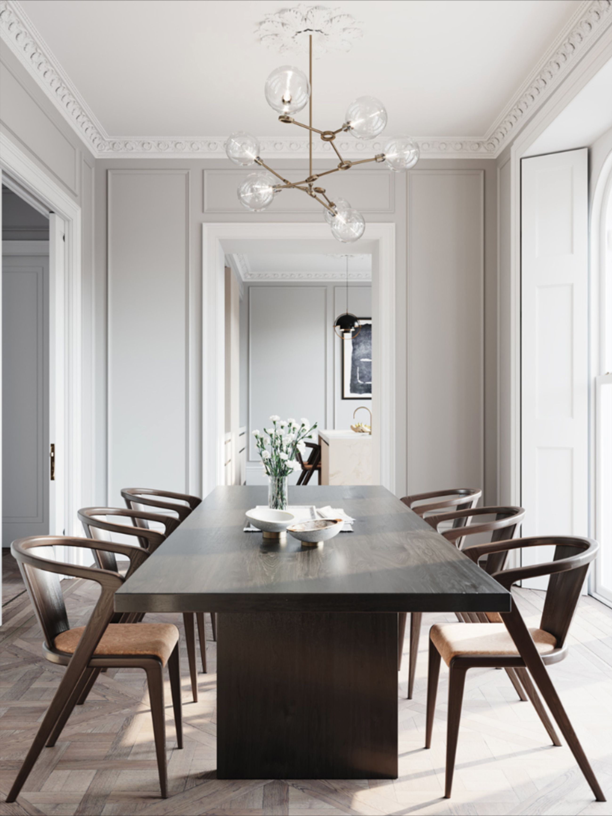 Elegant And Classic Home Design Modern Dining Room Dining Room Design Modern Classic Dining Room Contemporary dining room design