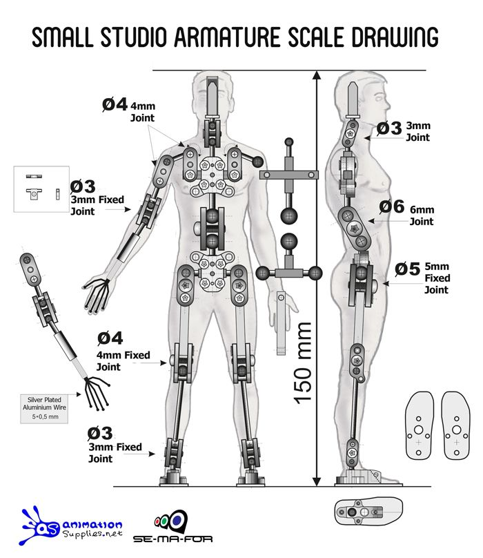 Small Studio Armature - Ready-made Stop Motion Armature from ...