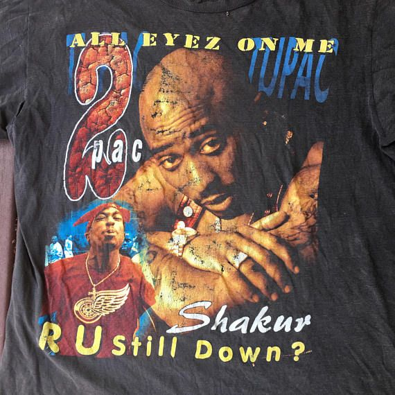 886389baf1b06 Tupac Shakur camisa 2Pac t Rap Hip Hop todo el Eyez en mí
