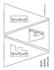 Printable FIESTA mini flags template for #CincodeMayo