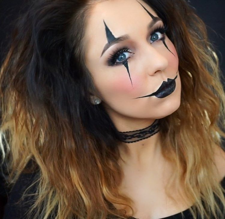 Easy Jester Clown makeup by ericagamby tutorial on YouTube