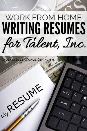 Work At Home Writing Resumes For Talent Inc Writing Jobs