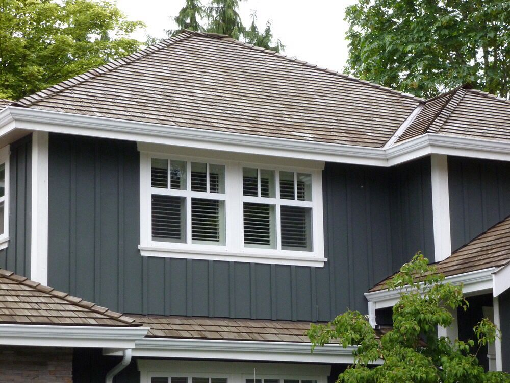 Like The Window Trim Style And Board And Batten Siding Vertical Siding Exterior Lake Houses Exterior Exterior Siding