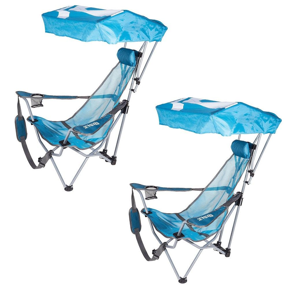 Kelsyus Backpack Beach Camping Folding Lawn Chair With