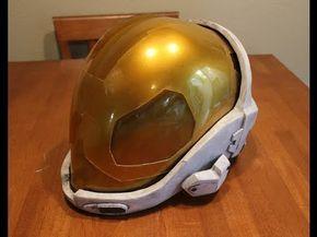 HALO EVA Helmet Prop Tutorial (HD) Lifesized HALO META helmet prop armor - YouTube