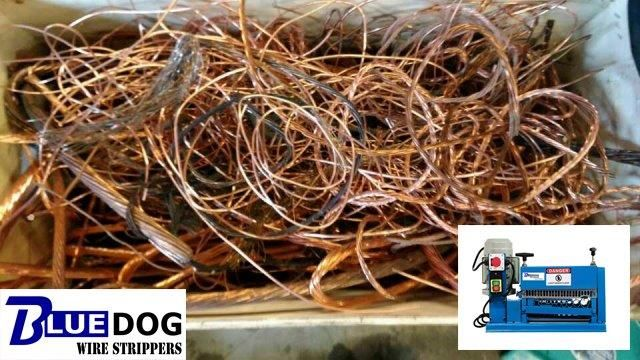 Recycling Copper Wire - BWS-38-Motor. After 10 minutes of customer ...