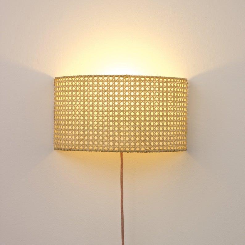 Cane Wall Lamp Etsy Wall Lamp Lamp Light