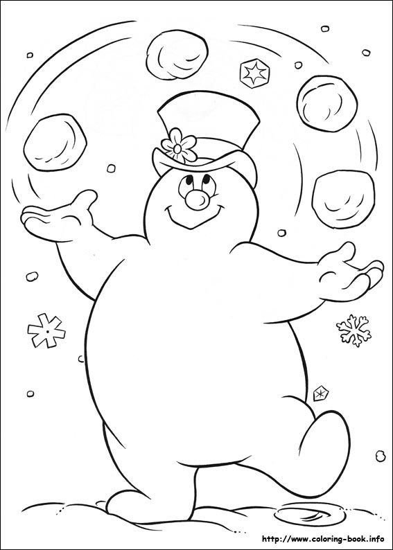 Frosty The Snowman Coloring Picture Snowman Coloring Pages Free Coloring Pages Santa Coloring Pages