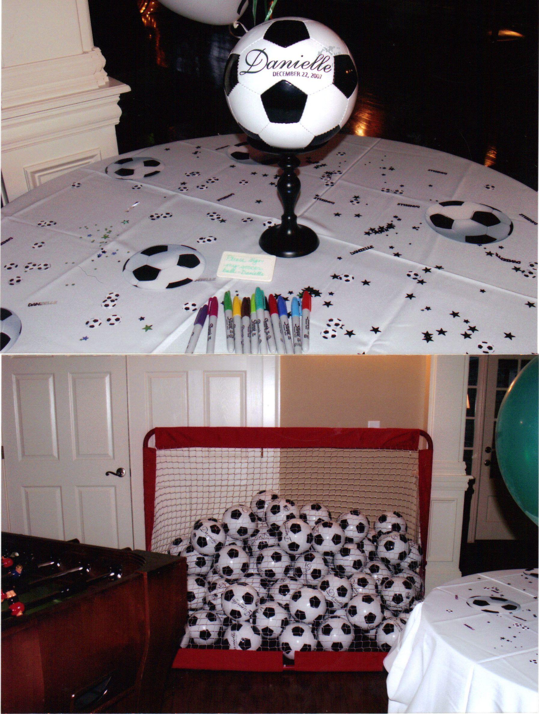 soccer themed bar mitzvah center piece | Take Aways were ...