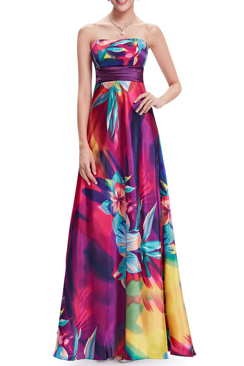 Strapless floral evening dress floral evening dresses floral and prom