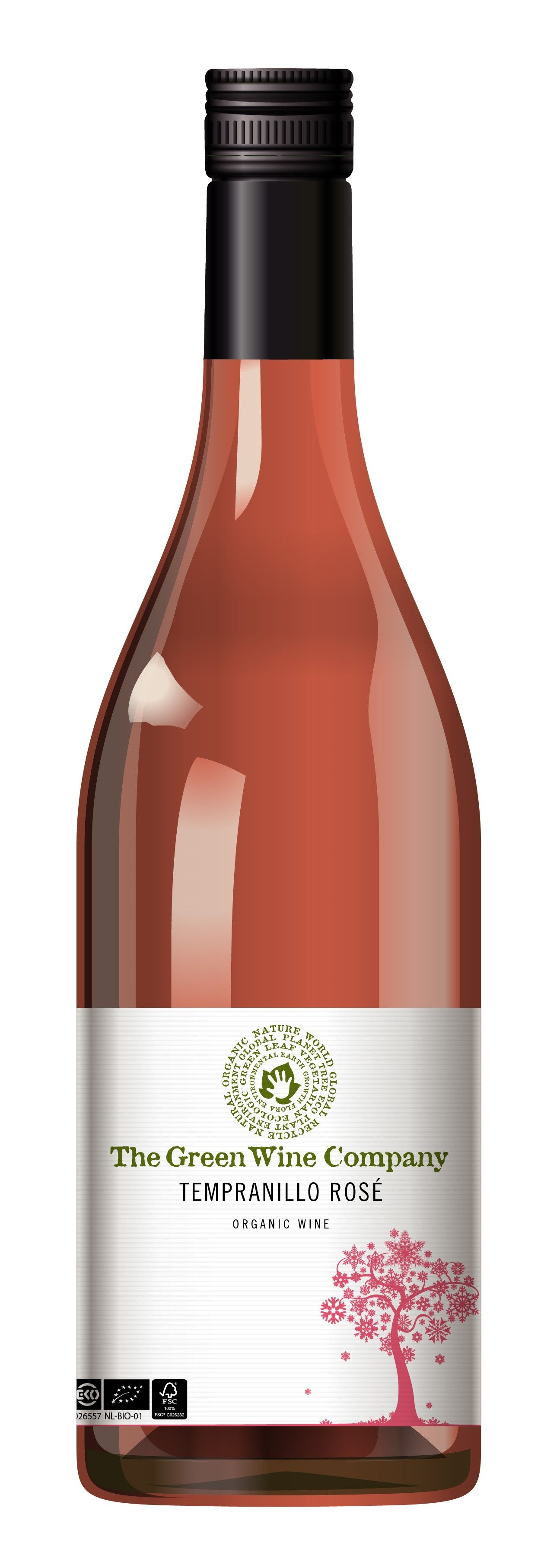 Green Wine Company Bio Rose Delcave Wine Organic Wine Wine Bottle