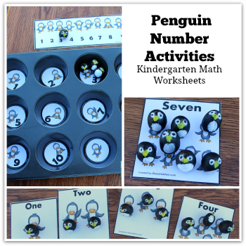 Kindergarten Math Worksheets - Penguin Number Activities | penguin ...