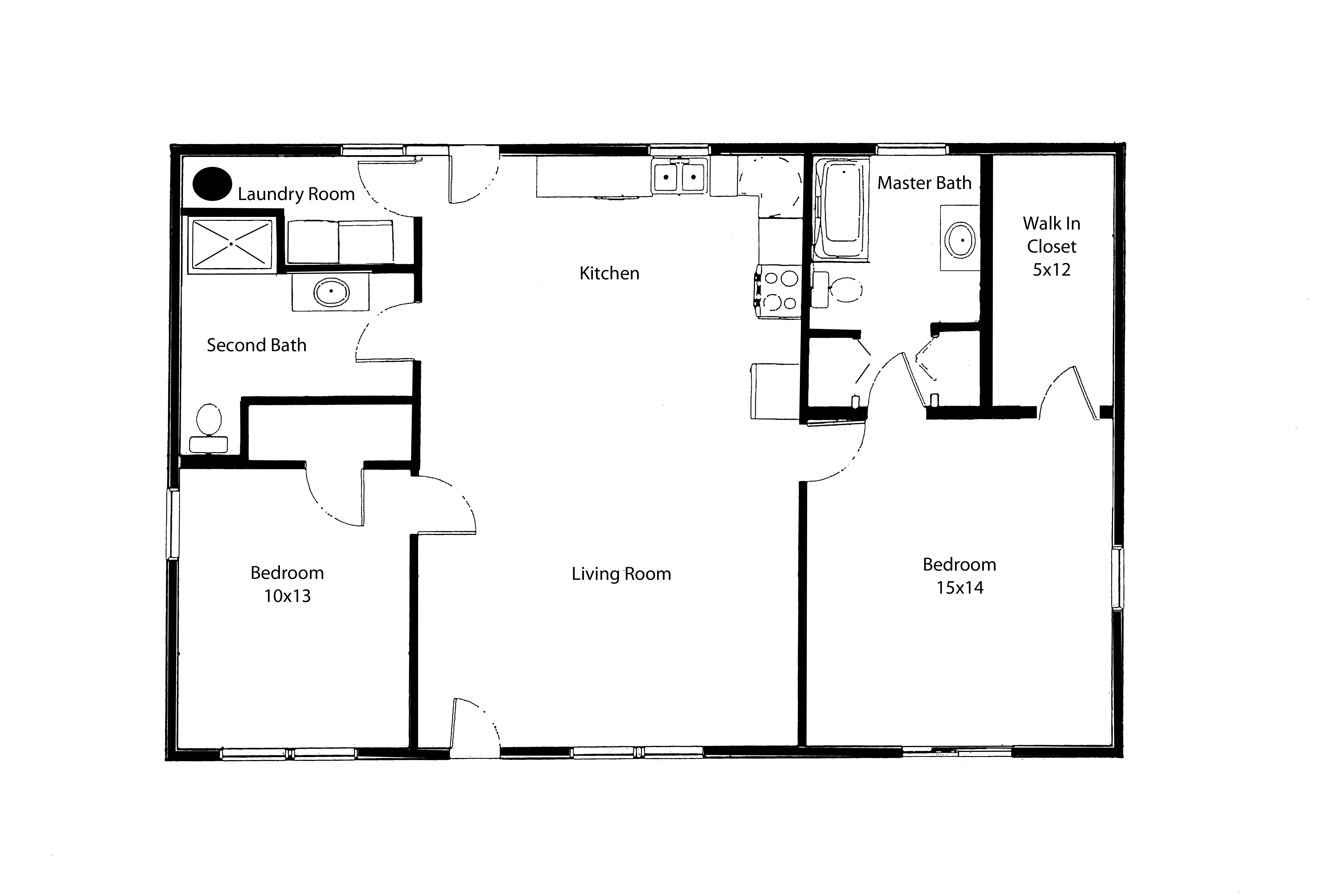 one level floor plan hearthstone homes plans images ranch style home ...