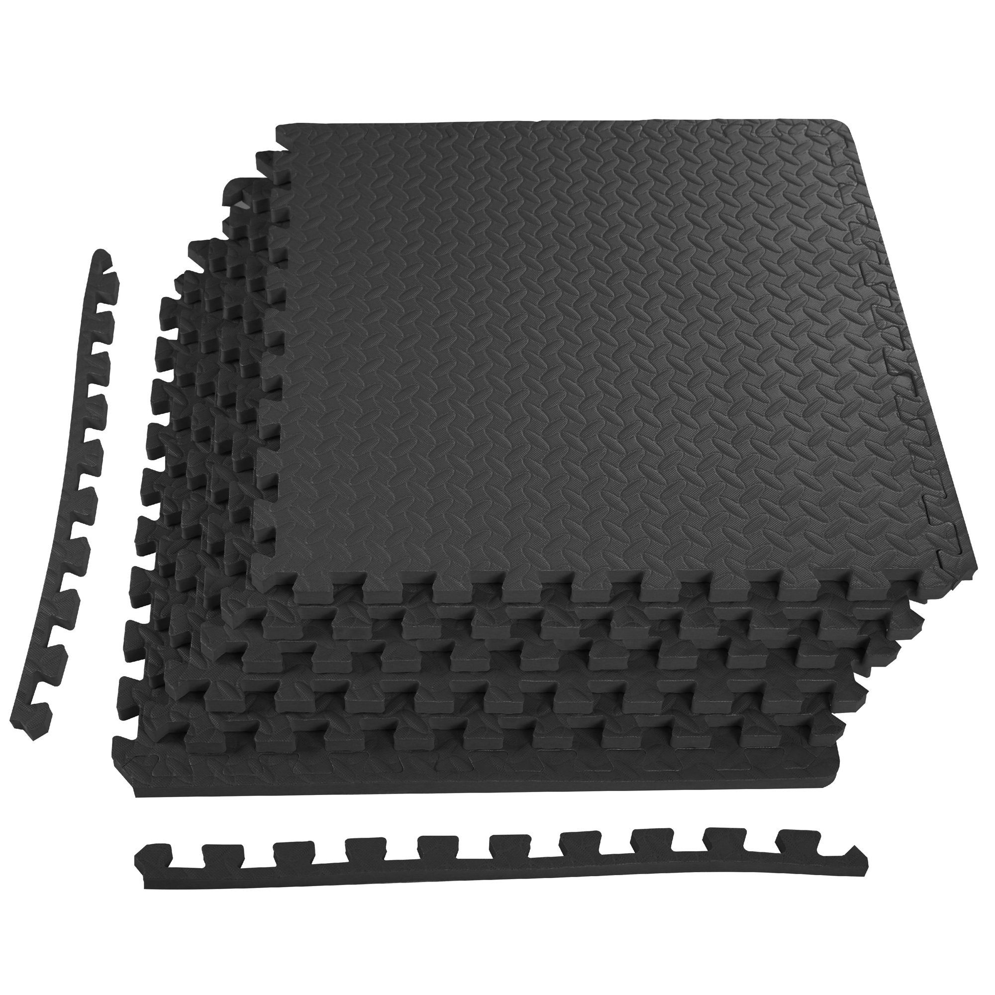 3 4 Inch Super Extra Thick Eva Foam Mat With Interlocking Tiles 24 Square Feet For Home Gym Protective Mma Exercise Kids Babies Playroom Walmart Com In 2020 Interlocking Tile Mat Exercises Rubber Floor Tiles
