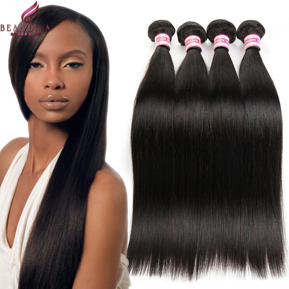 Malaysian Virgin Hair Straight Hair 4 Pcs Lot Unprocessed 8a Grade