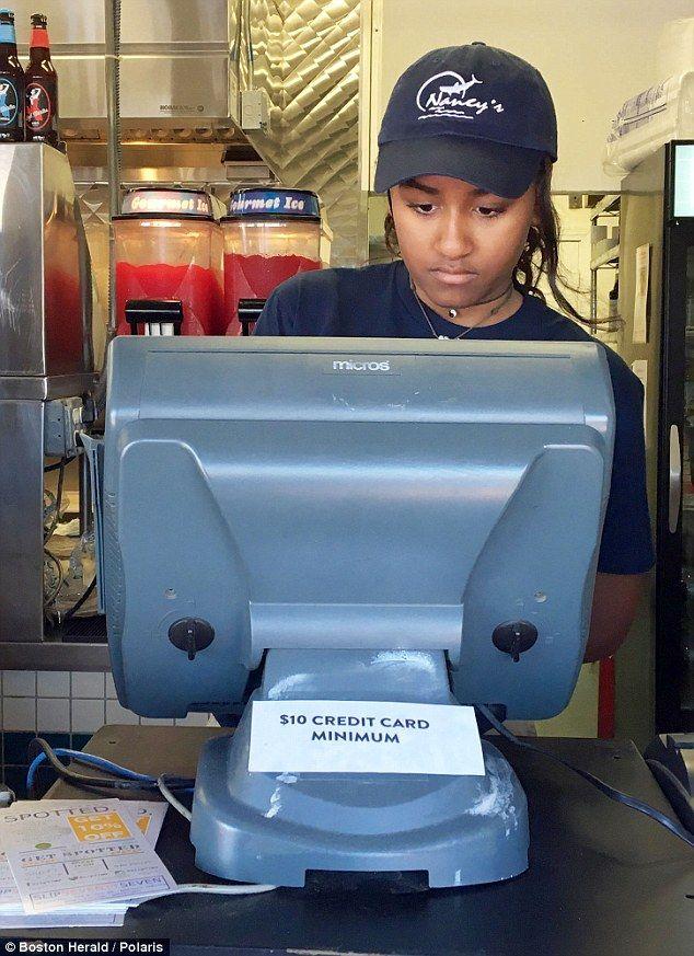 Sasha Obama lands unglamorous summer job serving up fish at shack