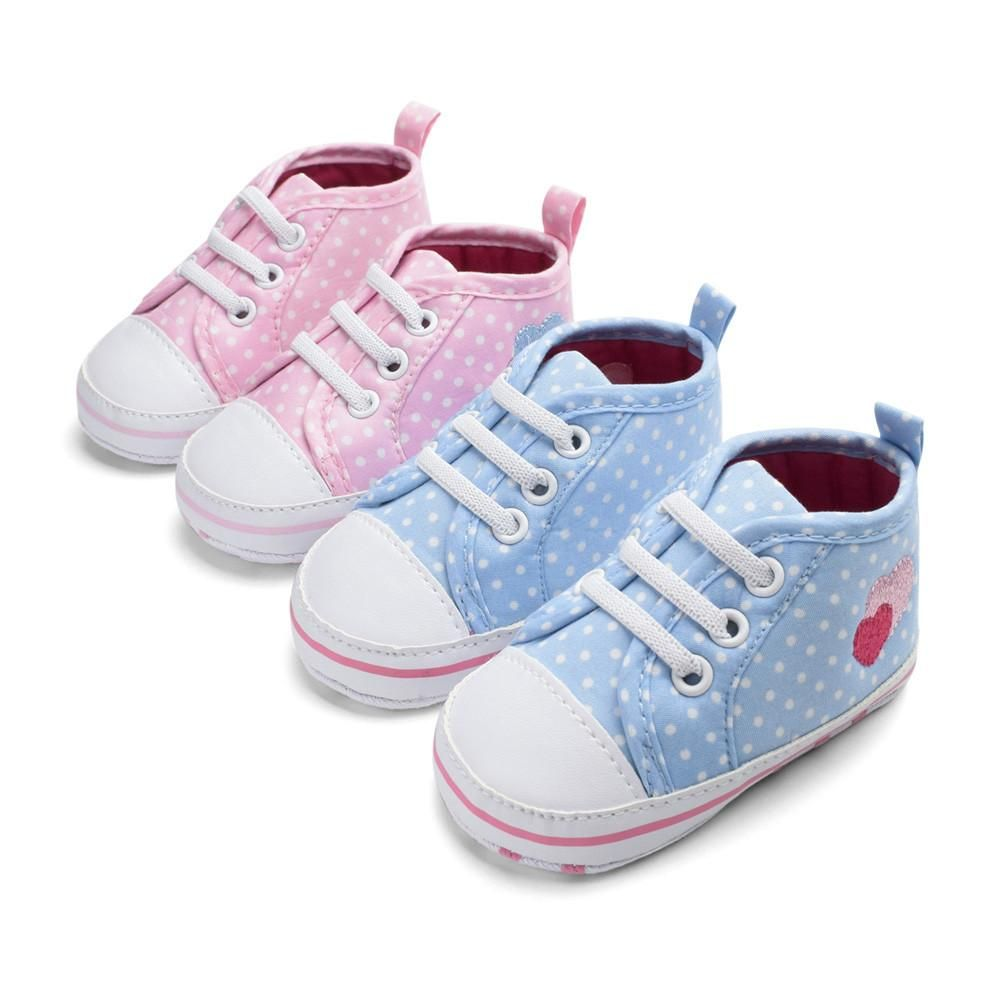 403bb355cf704 New Canvas Classic Sports Sneakers Newborn Baby Boys Girls First Walkers  Shoes Infant Toddler Soft Sole