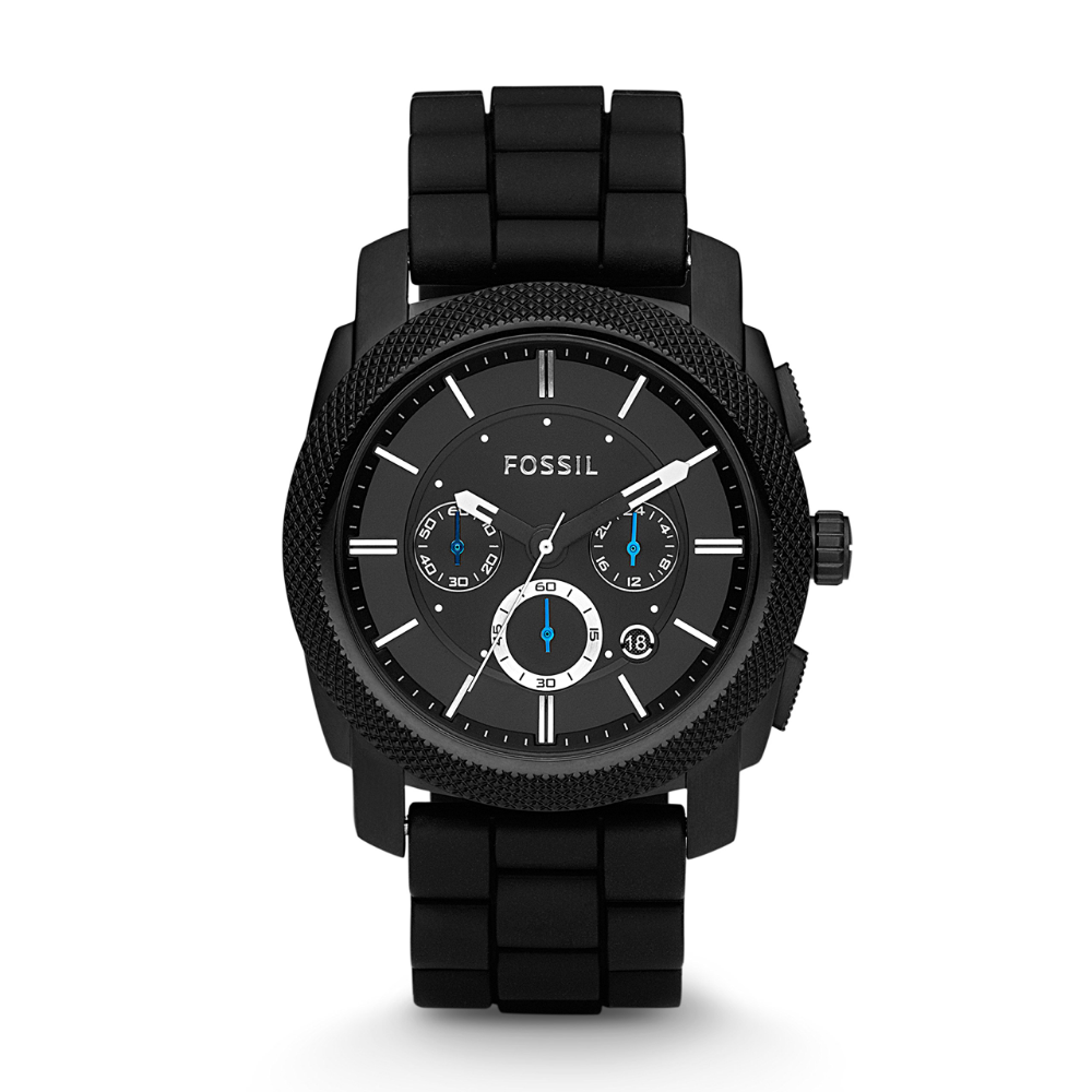 Fossil Men S Machine Stainless Steel And Silicone Chronograph Quartz Watch Fossil Watches For Men Fossil Watches Fossil Chronograph