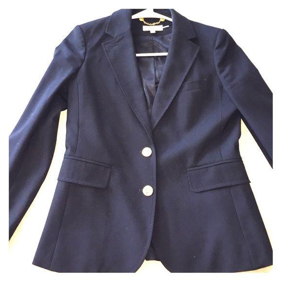 Navy blue jacket gold buttons womens