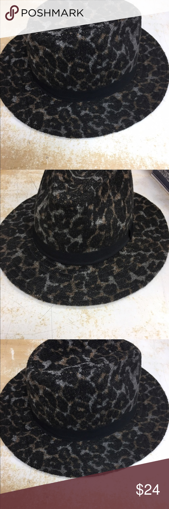 Women's hat Leopard design hat  complete your outfit with this beautiful hat the accessory collective Accessories Hats