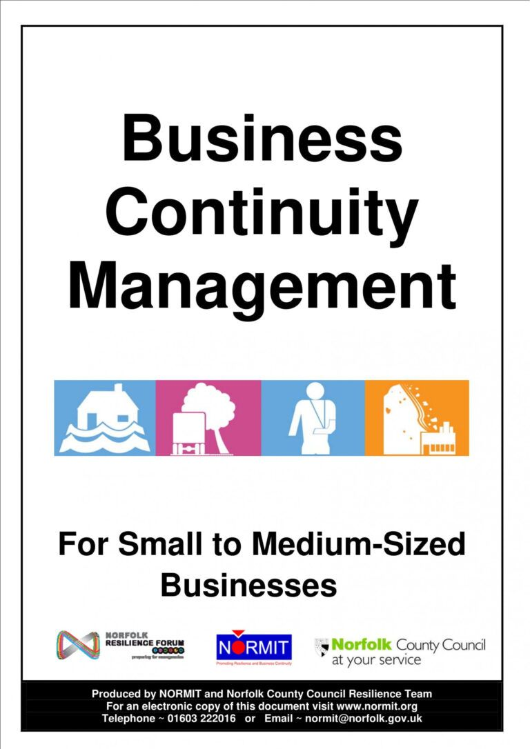 031 Simple Business Continuity Plan Sample Examples