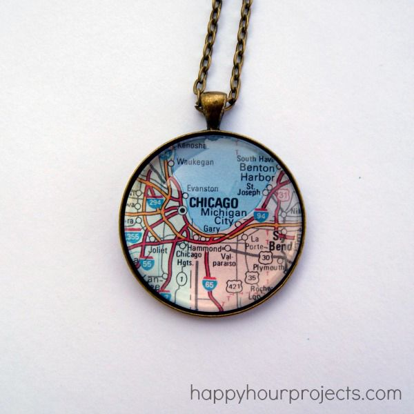 Glass map diy necklace map necklace disney parks and park glass map diy necklace mod podge rocks aloadofball Image collections