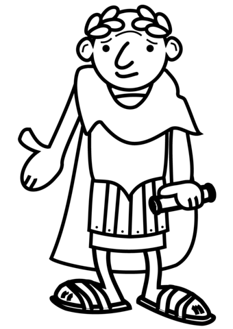 Cartoon Roman Emperor Ausmalbild Ausmalbilder Ausmalen