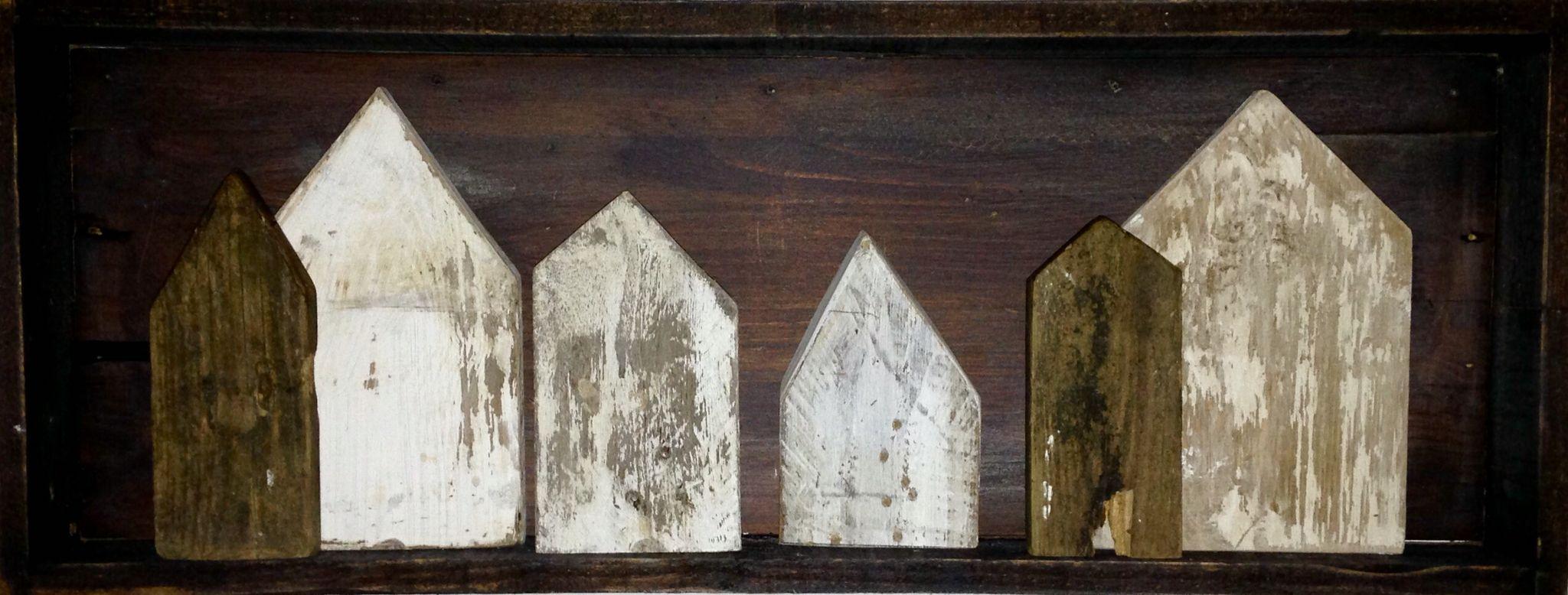 DIY Häuser aus Holzresten