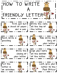 Friendly Letter Sequencing Free Dl  Education And Teaching
