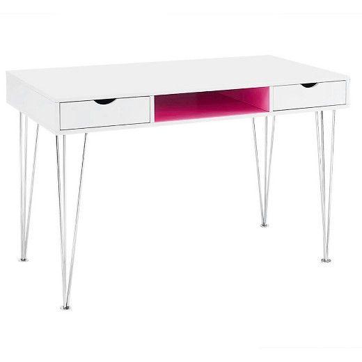 Retro Wood Computer Desks Pink - Walker Edison : Target