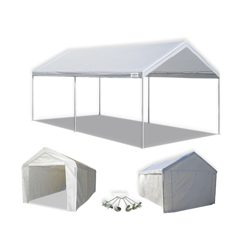 Portable Carport Canopy w Sidewall Domain 10 x 20 Heavy