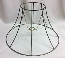 Wiremetal lamp shade formframe 9 height 8 panel antiques and wiremetal lamp shade formframe 9 height 8 panel keyboard keysfo Image collections
