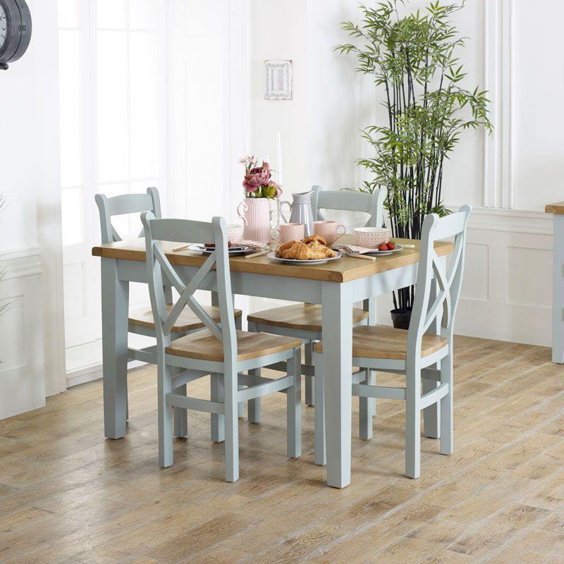 Grey Extendable Dining Table Chairs Rochford Range