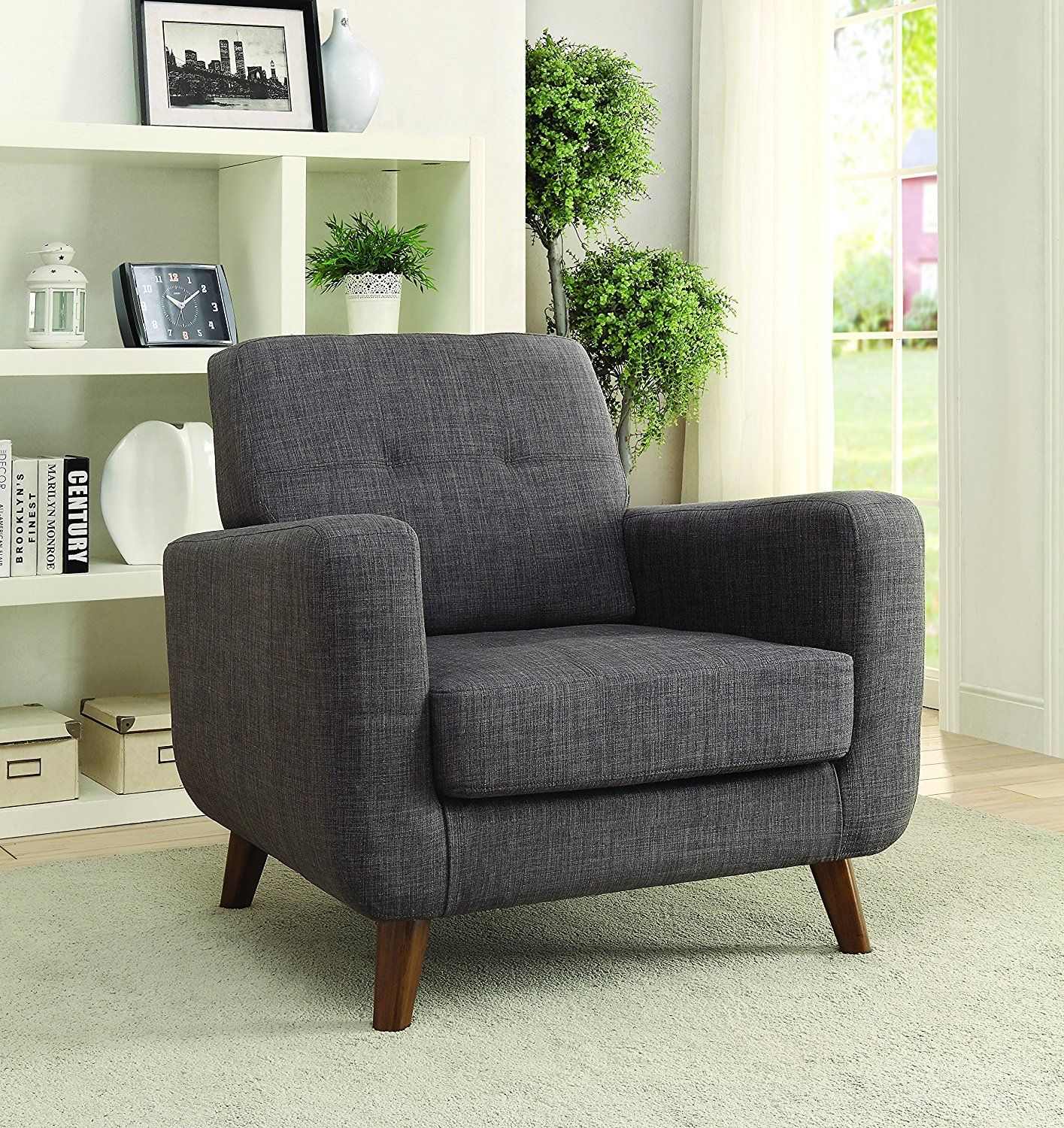 Amazon Com Coaster Home Furnishings 902481 Accent Chair Null Grey Kitchen