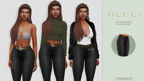 fa41fb8c96d Gucci Leggings for The Sims 4 by Lynxsims