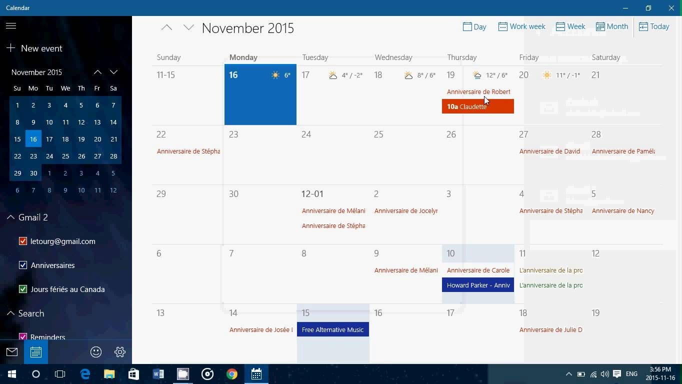 Windowss 10 How to add Google calendar account to your