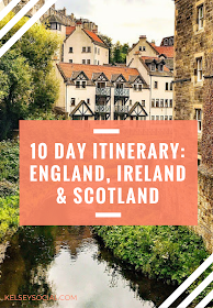 If you're looking for a possible itinerary, this information might help with your planning! I'm sharing how I spent ten days in London, Edinburgh, County Clare, Galway and Dublin. #travelscotland