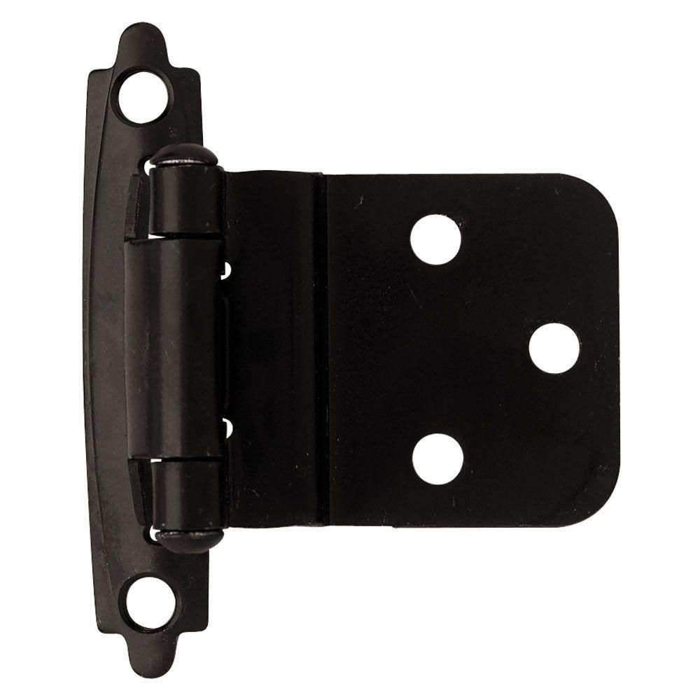 3 8 In Flat Black Self Closing Inset Hinge 1 Pair Home Depot Inset Hinges Liberty Hardware Cabinet Accessories