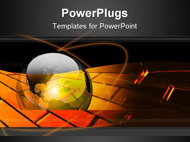 Powerpoint template displaying transparent glossy earth globe on a powerpoint template displaying transparent glossy earth globe on a black and gold background toneelgroepblik Images