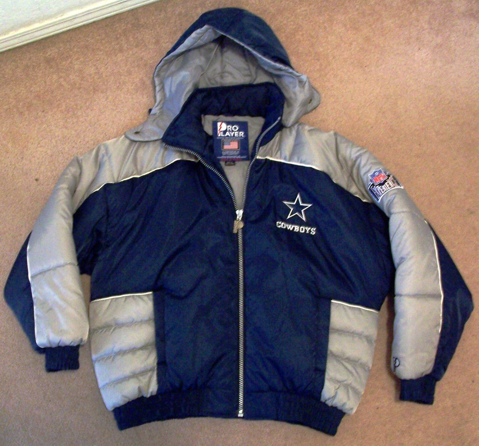 Dallas Cowboys...Original Winter Coat w/Hood Football XL Mens Near ...