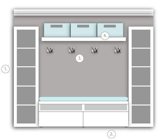 ecco 30 combinazioni che si possono ottenere con questo mobile economico ikea flurgarderobe. Black Bedroom Furniture Sets. Home Design Ideas