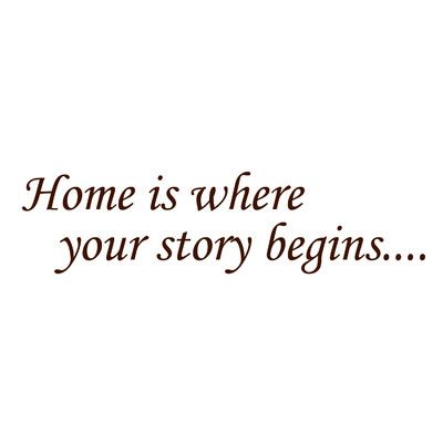 RoomMates Home Is Where Your Story Begins Peel and Stick Quotable