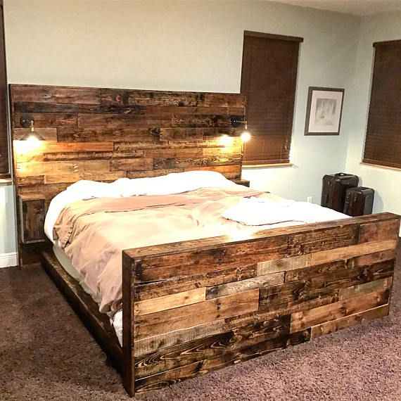 Rustic Headboard Bed Frame And Footboard Rustic Bed Frame