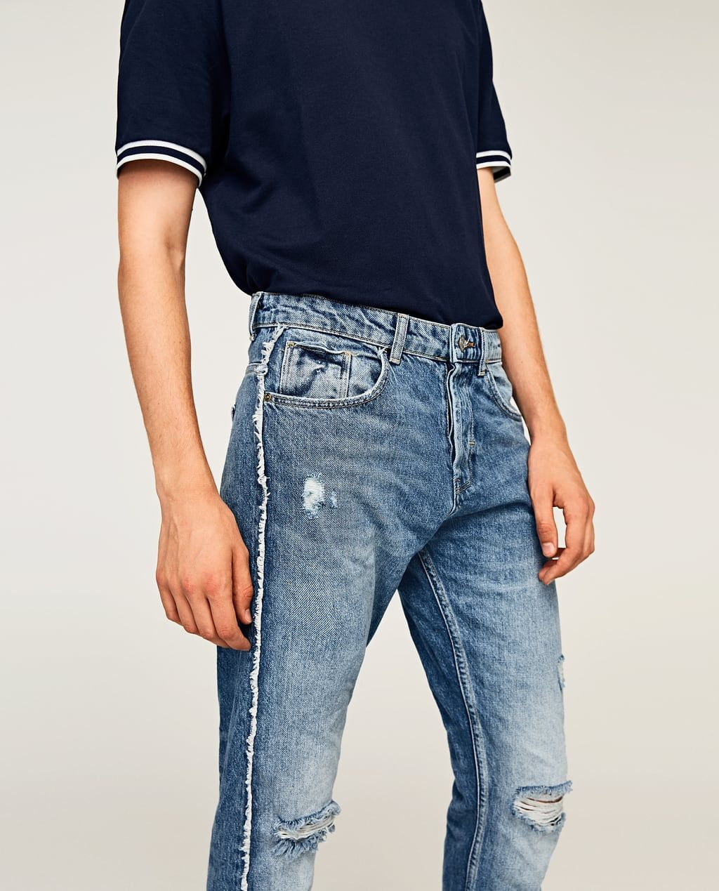 4132741a1f Soft jeans with double stripes   MENS FASHION   Jeans, Denim, Slim