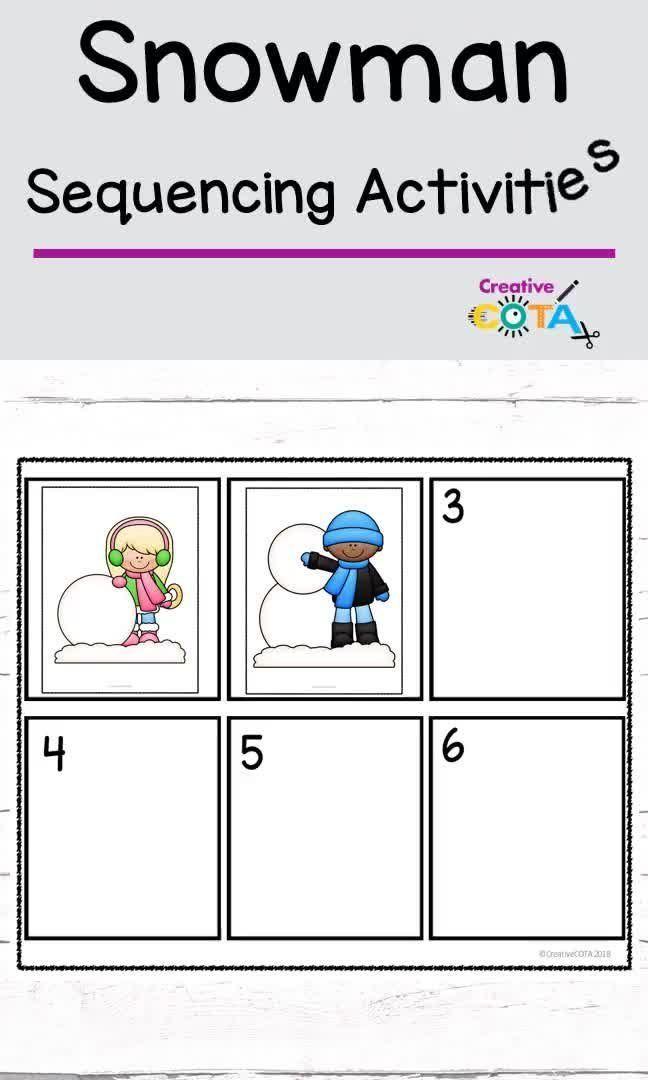 Sequencing Worksheet Snowman Kids Learning Station Sequencing Worksheets Sequencing Pictures Sequencing Activities Kindergarten